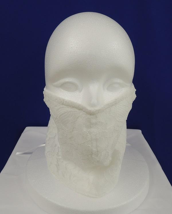 800005<br>オリジナル 歌マスク (リバー風レース使用)<br>マスク コーラス ステージ 衣装 カラオケ コロナ コスチューム イベント 飛沫防止