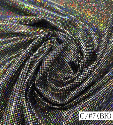 160001<br>ロイヤルスムース<br>ニット ホログラム 箔 生地 布 布地 ラメ ステージ 衣装生地 コスチューム コスプレ 衣装 ハロウィン クリスマス 仮装 体育祭 発表会 運動会 お遊戯会 装飾