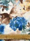 500874<br>サテン オーガン 転写 プリント<br>生地 布地 布 無地 衣装 コスプレ コスチューム ステージ ウェディング ブライダル スカート ワンピース ポリエステル 花柄 バラ 日本製