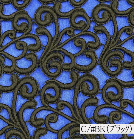 024-30536<br>棒金 ケミカル レース<br>生地 布 布地 高級 セレブ感 ラメ レース ブライダル ウェディング 発表会 コーラス コスプレ衣装 ステージ衣装 装飾 モチーフ ブレード 衣装生地 コスチューム ドレス レース 日本製