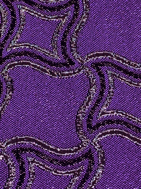 300224-29-34<br>手裏剣ラメジャガード<br>ラメ ジャカード 生地 布 布地 柄 ダンス よさこい 祭り 衣装 コスプレ 舞台衣装 ステージ 衣装生地 コスチューム バラ 大柄 袋物 多色 仮装 ドレス 日本製