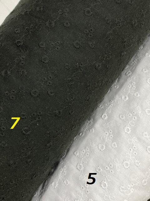 ユーイチノリトルフラワー<194335> 100cm幅<br> 綿レース ダブルガーゼ刺繍