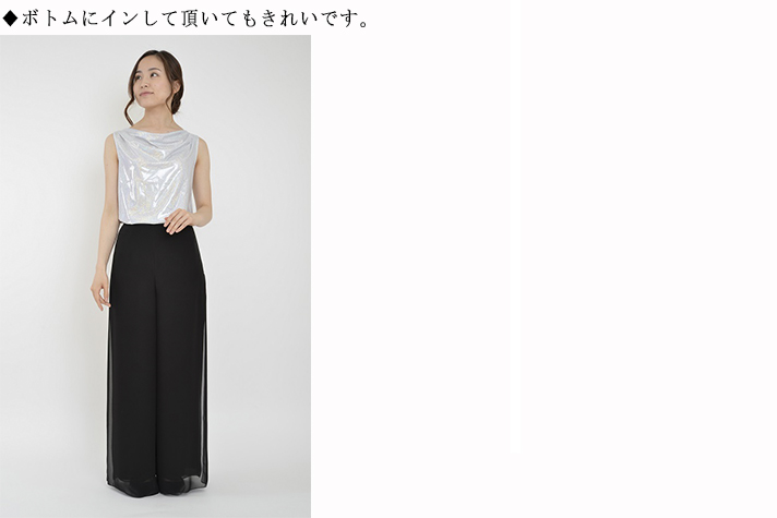 60000<br>キラキラ タンクトップ<br>衣装 ステージ 演奏会 結婚式 パーティー舞台 コーラス ピアノ フォーマル カラオケ ラメ グリッター 日本製 国産 ポリエステル 90% ポリウレタン 10%