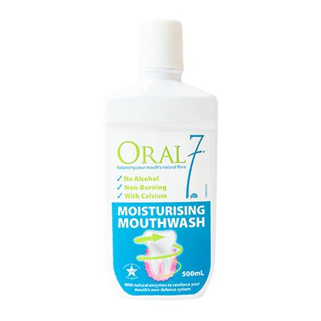 【アルコールフリー】お口をやさしく洗浄・保湿する洗口液オーラル7モイスチャライジングマウスウォッシュ 500ml