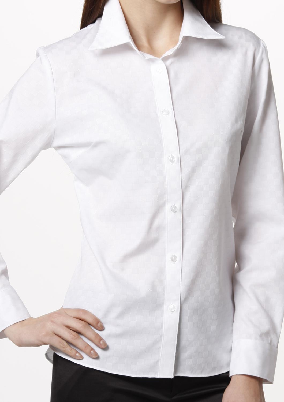 お手入れ簡単 就活やビジネスで活躍する定番シャツブラウス 長袖 WonWスクエア(34636 34637 34638 34639)