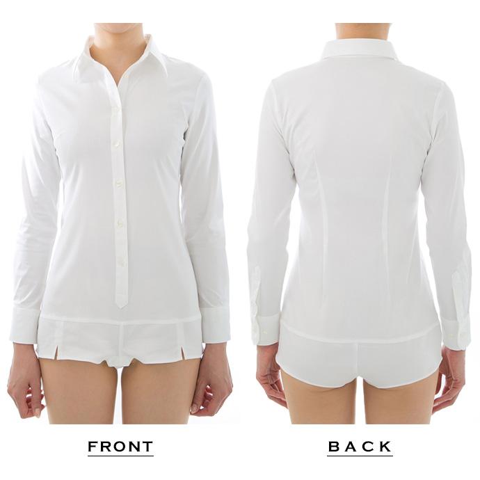 動きやすく着崩れない超ストレッチ&イージーケアボディシャツ(長袖 7分袖 5分袖 半袖 ノースリーブ)