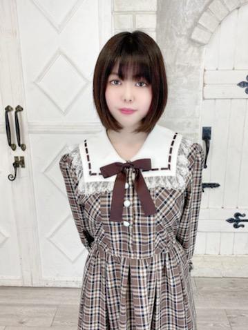 【コスメイトオリジナル】BIGサイズ!茶チェック柄 長袖ワンピース◆4L