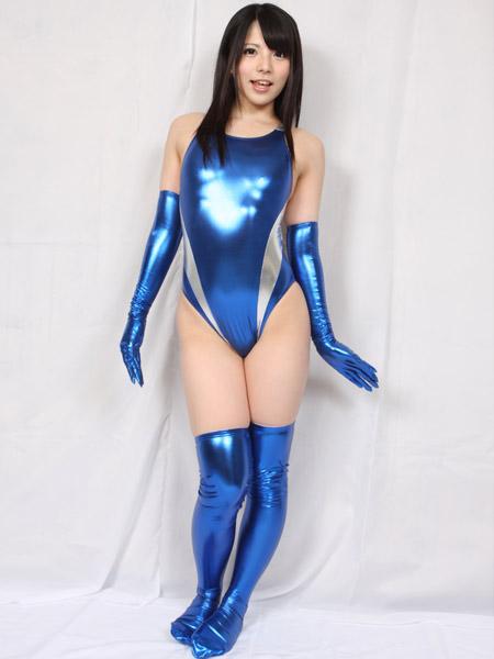 【コスメイトオリジナル】スーパーメタリックサイドスラッシュ競泳水着◆M・LL