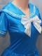 【コスメイトオリジナル】スーパーウェット生地スカートライン入り半袖セーラーレオタード◆全3色/M・3L