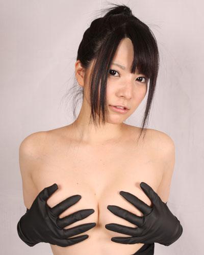【コスメイトオリジナル】ラバー生地 ロンググローブ◆黒/M・3L