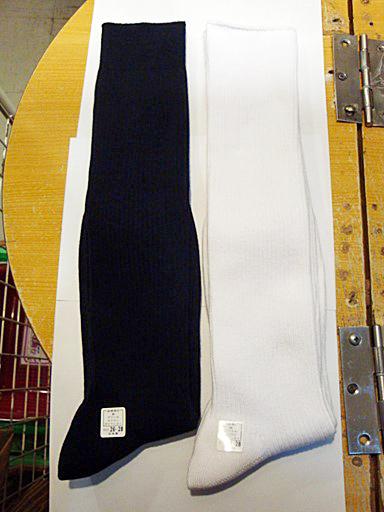 【TOPACE×コスメイト】大寸サイズ・スクールハイソックス◆紺/26-28cm×40cm丈