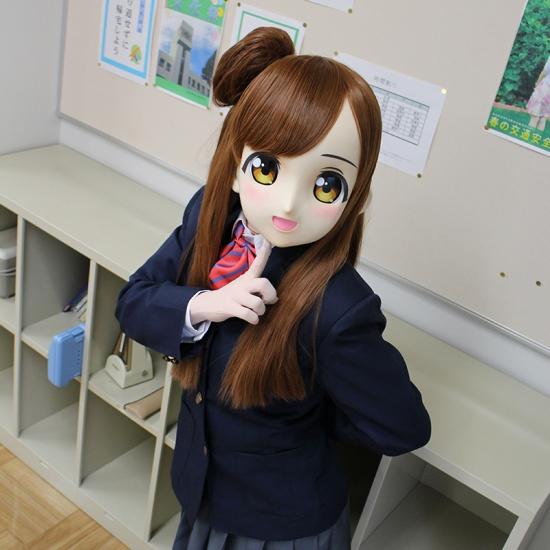 """むにむに製作所 完成品マスク&ウィッグセット""""KAWAII-06"""""""