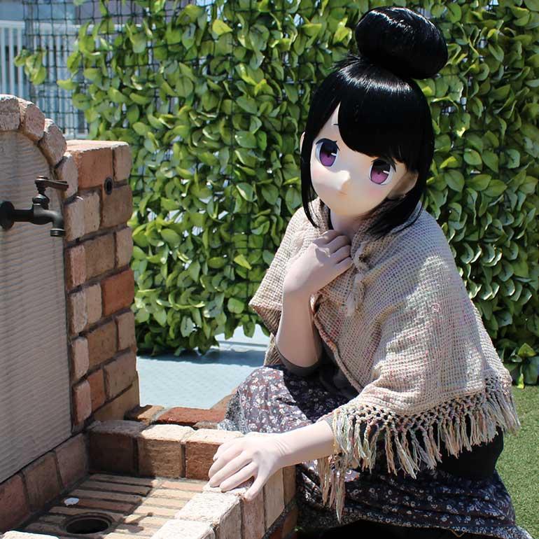 """むにむに製作所 完成品マスク&ウィッグセット""""KAWAII-60"""""""