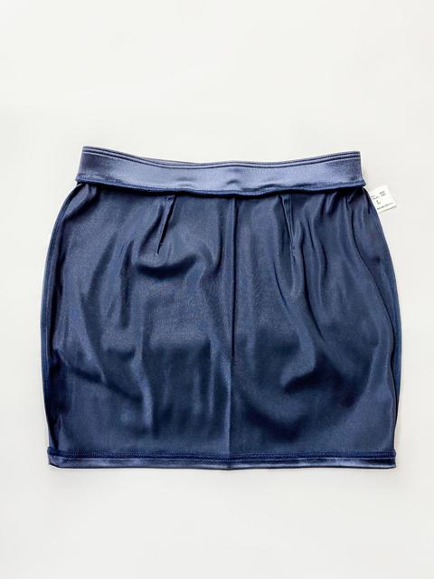 【コスメイトオリジナル】サテン生地タイトミニスカート◆紺/L・3L
