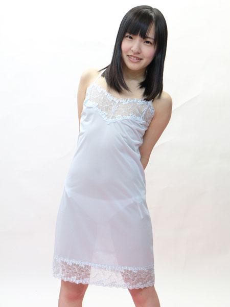 【日本製】トリコット素材レース付きスリップ・90cm丈◆全7色/L・LL