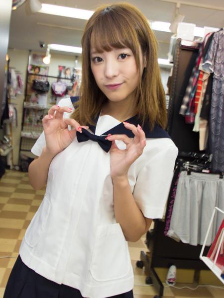 【コスメイトオリジナル】半袖リボン付きセーラー服◆値下げしました・T160