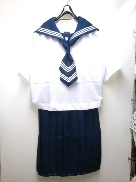 【日本製/アウトレット】某有名お嬢様女子校のセーラー服(Sユリ)・夏服◆4Lサイズ