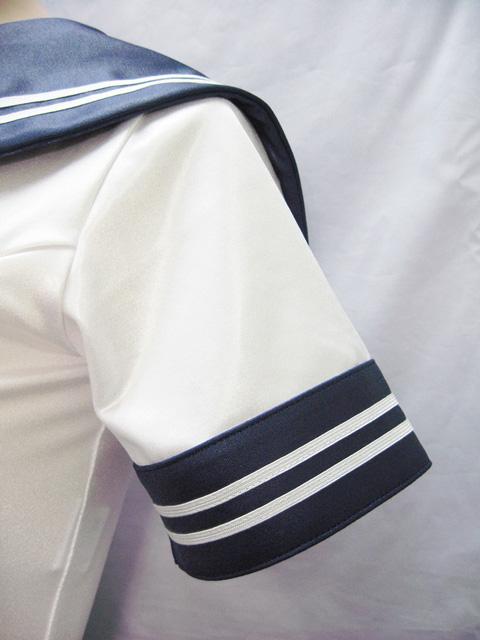 コスメイトオリジナルスーパーウェットセーラーカラースクール水着&ライン入りスカートセット