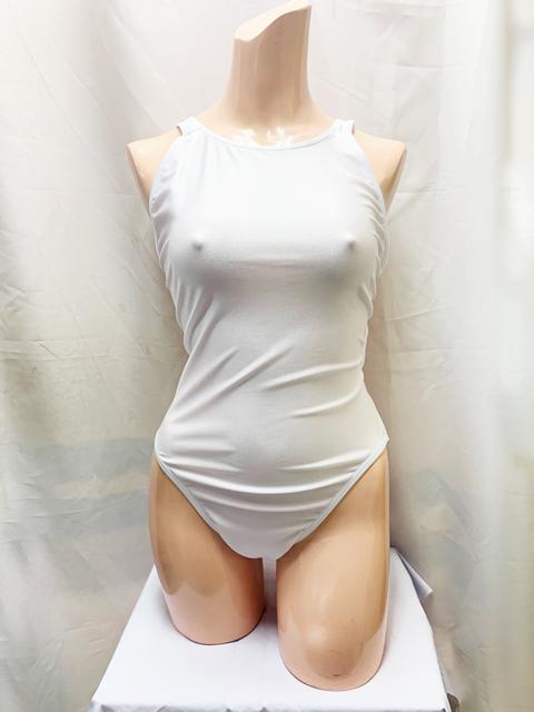 【新色登場!】コスメイトオリジナル 2WAYストレッチ素材競泳水着 白/3L・5L