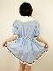 【コスメイトオリジナル】ミニ丈フリルワンピース 日本製◆4L