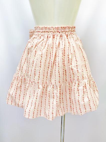 【コスメイトオリジナル】大きめサイズ花柄ミニスカート◆値下げしました