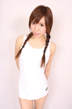 小松ニット『Bellcampus』×コスメイトNo.2500別注カラースクール水着◆ホワイト