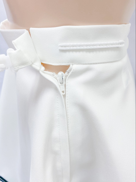 【コスメイトオリジナル】大きめサイズ!2本ライン入りフレアースカート 日本製◆値下げしました