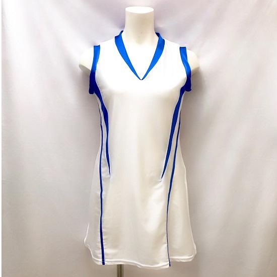《日本製》テニス&バドミントンウェア風ワンピース◆全2色/M・4L