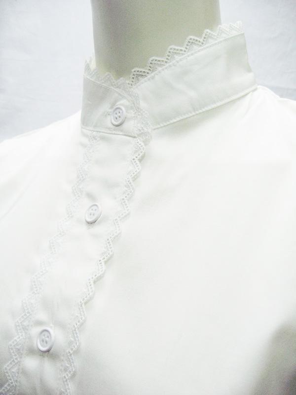 【日本製】胸上げエプロンのウェイトレス◆2色/M・LL・4L