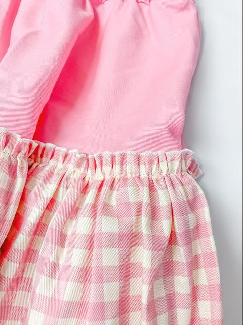 コスメイトオリジナル ギンガムチェックフリルミニスカート日本製◆値下げしました