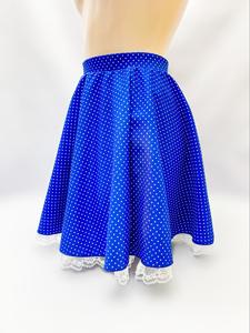 コスメイトオリジナル 水玉柄フレアースカート 日本製◆値下げしました