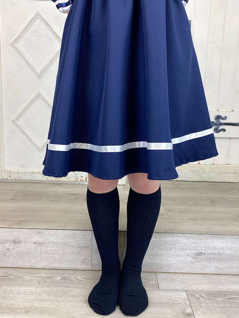 【コスメイトオリジナル】スクエアセーラーえりのミニ丈ワンピース◆おとこの娘サイズ・4L