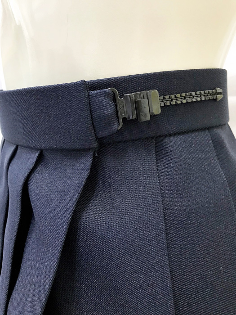 wsk-01 プリーツ スカート 濃紺