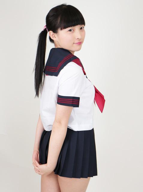 wcs-02<br>春夏 半袖 セーラー服<br>カラーラインタイプ