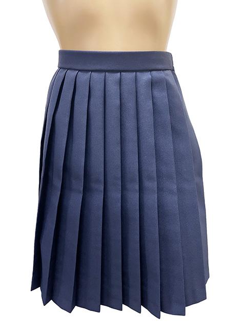 wsk-24<br>濃紺プリーツスカート レングス50�