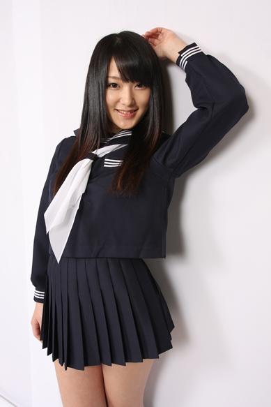 wcs-09 秋冬 セーラー服  濃紺 上下セット スカーフ付き!
