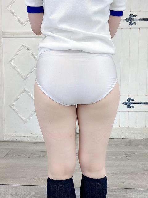 コスメイトリジナル<br>ストレッチ素材 陸上タイプブルマー【白】