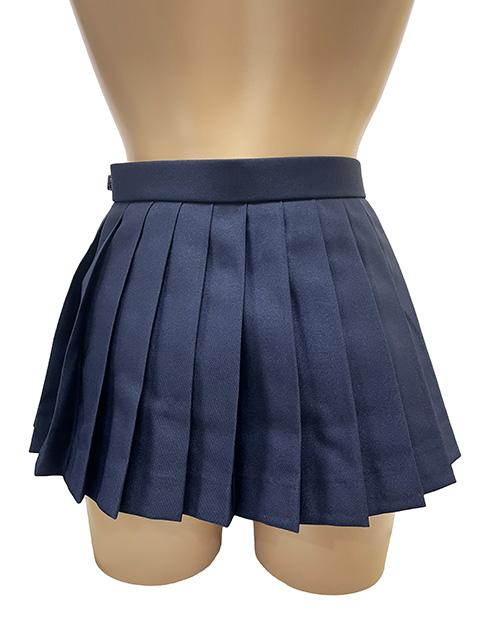 wbb-015<br>マイクロミニ プリーツ スカート 濃紺