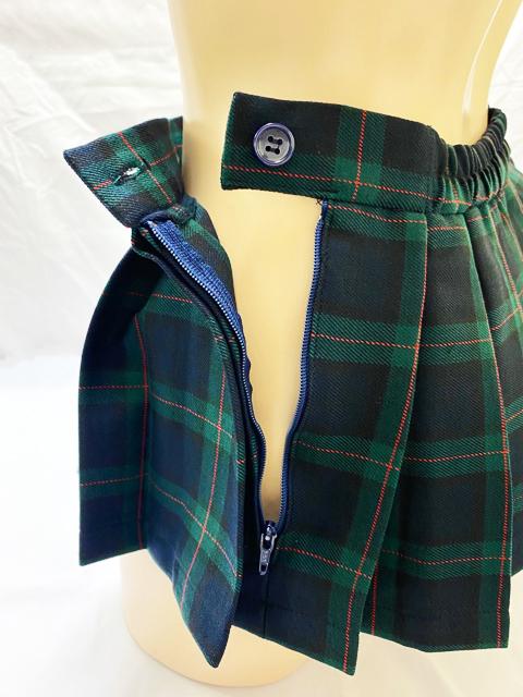 【在庫限り!】20cm丈プリーツスカート【Mサイズ】