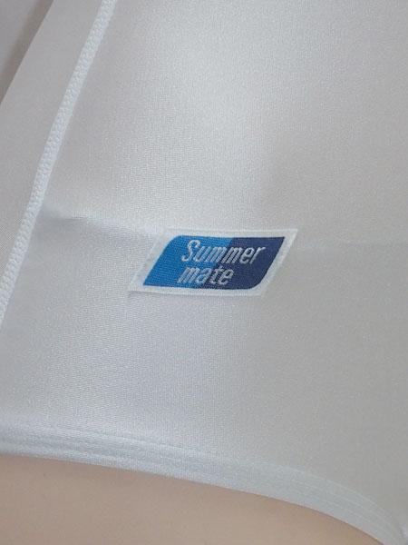 コスメイト限定 TOPACE特注 SE1500型 白パイピングスクール水着