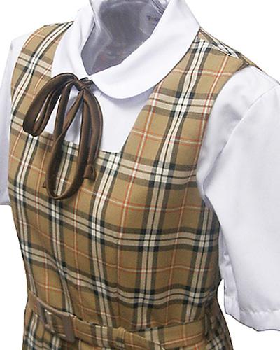 wjs-03<br>ベージュチエック ジャンパースカート