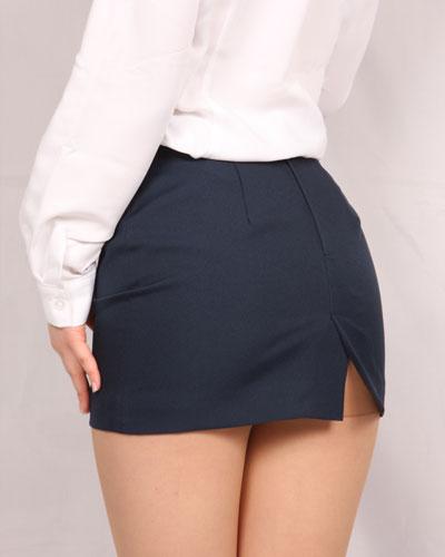 オリジナル<br>裏地付きタイトミニスカート