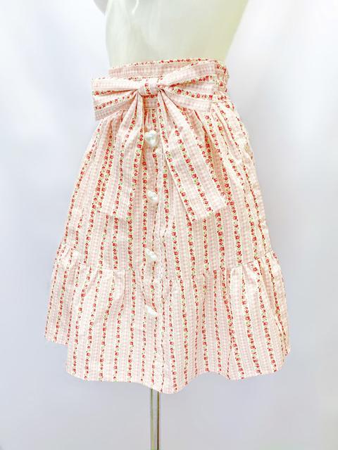 コスメイトオリジナル大きめサイズ花柄ミニスカート 日本製