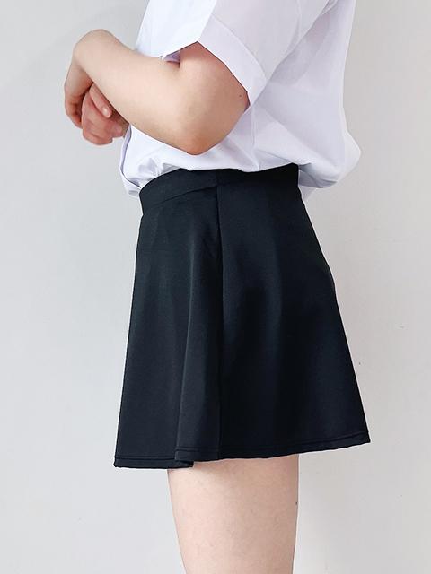 コスメイトオリジナル 2WAYストレッチ素材フレアースカート