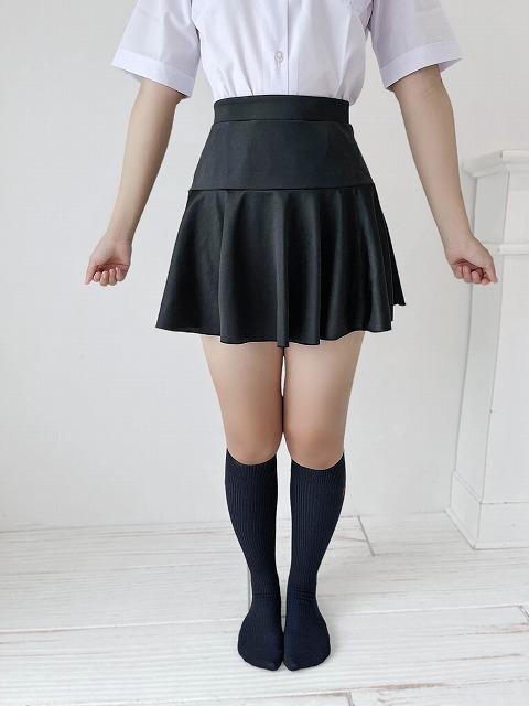 【5Lサイズ新登場!】コスメイトオリジナル 2WAYストレッチ素材2段フレアースカート