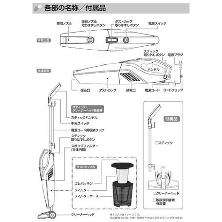 【サブスク専用】2WAYクリーナー スリムスタンド掃除機 FTS-SC3