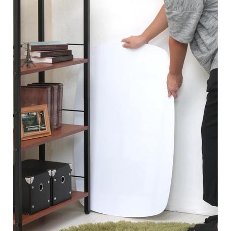 【サブスク専用】幅75cm 気軽に使える鏡面プライベート折り畳みテーブル ホワイトorダークブラウン