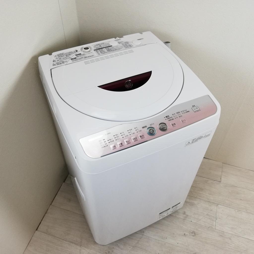 中古 シャープ 6.0kg 全自動洗濯機 ピンク ES-GE60L-P 2011年〜2012製造単身用 一人暮らし用 まとめ洗い 6ヶ月保証付き【型番掲載商品】