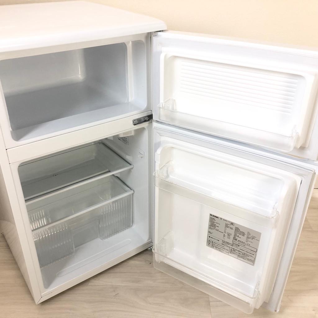 中古 83L 冷蔵庫 エルソニック ET-R0901W 2014年製 ワンルームなどに最適の小さい冷蔵庫 一人暮らし用 単身用 小型 学生向け 激安 安い 6ヶ月保証付き 【型番掲載商品】