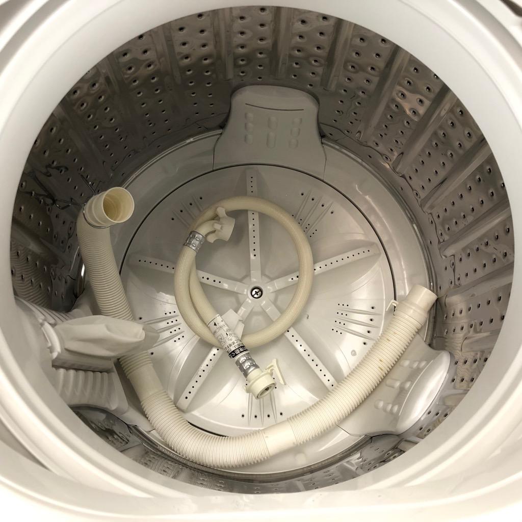 中古 7.0kg 送風乾燥機能 全自動洗濯機 ハイアール アクア 2016年製 3Dスパイラル水流 一人暮らしや二人暮らしのまとめ洗いに 6ヶ月保証付き【型番掲載商品】